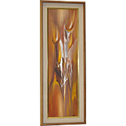 Impressive Early 1960s Abstract Painting by Monte`