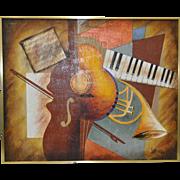 "Lee Reynolds Vintage ""Music"" Painting c.1960s"