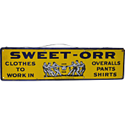 Sweet-Orr Enamel Advertising Sign c.1920s