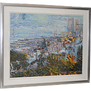 San Francisco from Telegraph Hill Serigraph by Marco Sassone c.1985