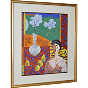 """Matisse's Room"" Original Painting by Wang Ju c.1990s"