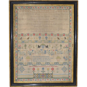 18th Century Sampler by Charlotte Wood c.1774
