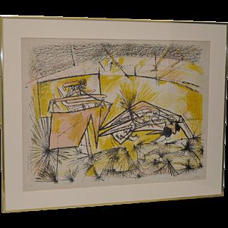 Roberto Matta (1911-2002) Pencil Signed Limited Edition Lithograph c.1970s