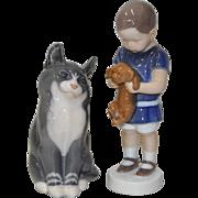 Lot of 2 Vintage Figurines - Royal Copenhagen & Bing & Grondahl
