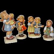 Lot of Four Vintage Hummel Figurines by Goebel