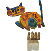 Curtis Jere Early Cat Sculpture c.1968