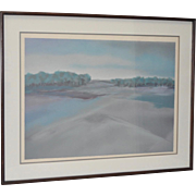 """""""Way To River Road"""" Fine Art Lithograph Pencil Signed"""