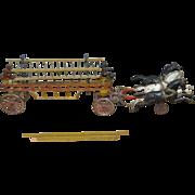 Antique Cast Iron Horse Drawn Ladder Fire Engine c.1900