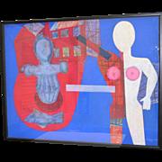 Henry ELINSON (Russian) Original Pastel c.1990 *LARGE*