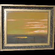 "Edwin Siegfried ""Golden Bay Marshes"" Original Pastel c.1930"