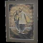 "Mid Century Modern Ballet ""The Birds"" (Respighi) Original Painting c.1953"