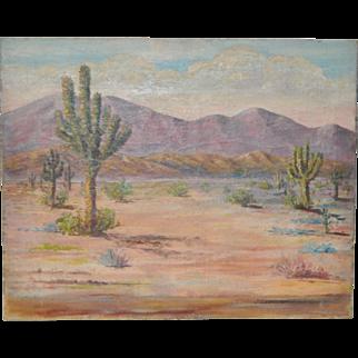 California Desert Landscape w/ Joshua Trees by J.C. Ericsson c.1930