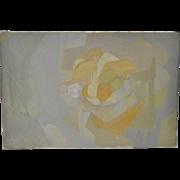 Wulf Barsch (b.1943, Germany) Original Modernist Abstract Still Life c.1966