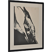 Paul Jenkins (1923-2012) Black & White Abstract Pencil Signed Lithograph c.1967