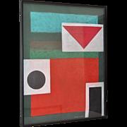 "Henry Elinson (Russian) Stately Original Pastel Painting ""Rothko"" c.1992"