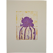 "Arthur Krakower (1921-2009) ""Atherton"" Original Monotype c.2004"