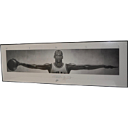 Michael Jordan NIKE Wings Lithograph Poster SIGNED