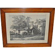 Antique Equestrian Print by Jazet after C. Vernet c.1840