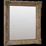 Antique Carved Mirror w/ Decorative Acanthus Leaf Corners c.1910