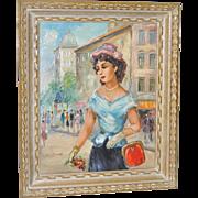 Mid Century European Oil Painting c.1950s