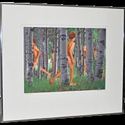 Stephen Frisch (Sausalito, 1936-2007) Mixed Media Photograph *Rare*