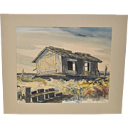 American Scene Movement Watercolor by Chapman Williams c.1940s