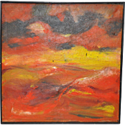 Mid Century Abstract Painting c.1957