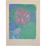 "Arthur Krakower (1921-2006) ""A Flower "" Original Monotype c.2004"