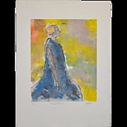 """Arthur Krakower (1921-2006) """"Roseland Ballroom"""" Monotype c.2001"""