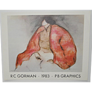 R.C. Gorman Pencil Signed Exhibition Poster c.1983