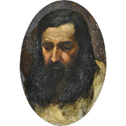 Old Master Oil Portrait on Vellum by Flandrin