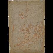 18th to 17th Century Sanguine & Ink Study