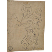 18th Century, or Earlier, Old Master Pen & Ink w/ Collectors Mark