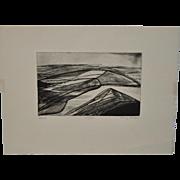 Terry Haas (Czech, b. 1923) Etching w/ Aquatint c.1970