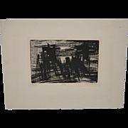 Terry Haas (Czech, b. 1927) Original Etching w/ Aquatint c.1970