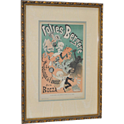 Folies Bergere Lithograph by Jules Cheret c.1884