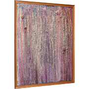 Large Contemporary Abstract w/ Heavy Iridescence Texture c.2015