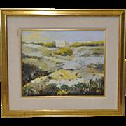 Vintage Landscape Oil Painting c.1987
