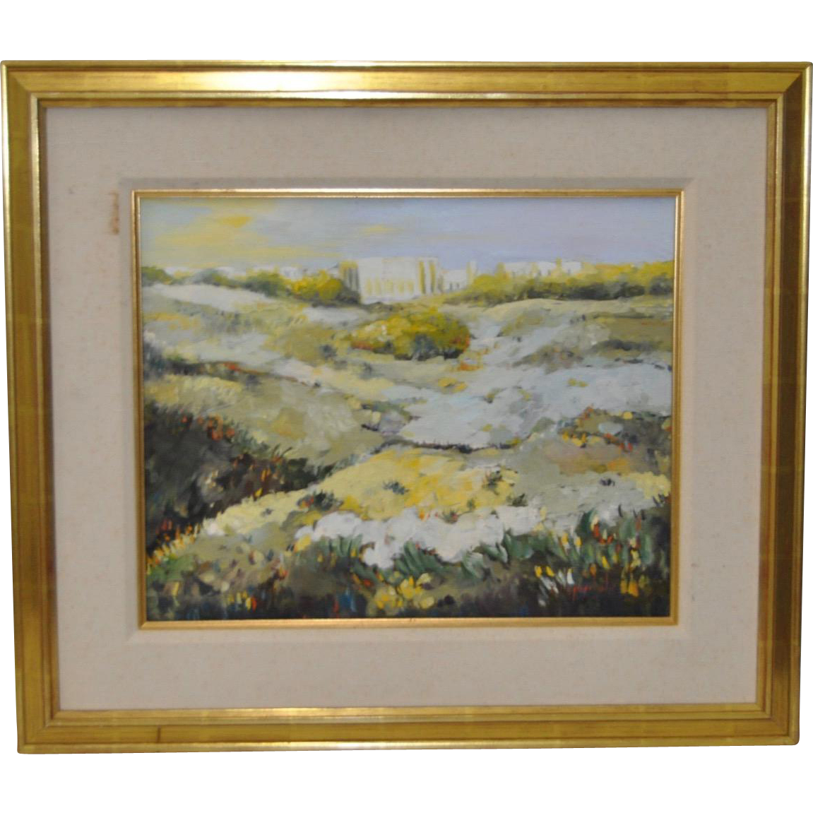 Vintage Landscape Oil Painting C 1987 From Antique Canvas