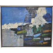 Mid Century Modern Abstract Oil Painting c.1960