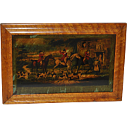 Going Out in the Morning Antique Fox Hunting Print c.1780s
