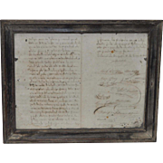 Historical Mexican Document w/ Signatures c.1888
