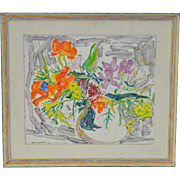 Floral Still Life by Max Pollak c.1970