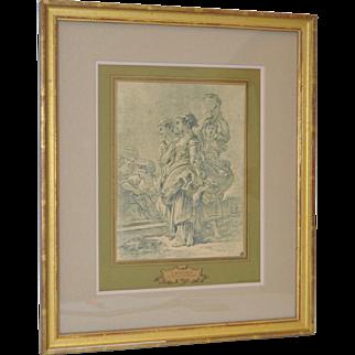 """Francois Boucher """"Le Retour du Marche"""" Lithograph Late 19th / Early 20th Century"""