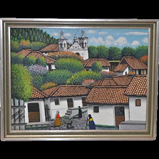 Jose Antonio Velasquez, Honduran (1906-1983) San Antonio de Oriente c.1970