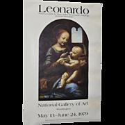 "Vintage ""Leonardo da Vinci to Titian"" Exhibition Poster c.1979"