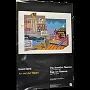 "Stuart Davis ""Art and Art Theory"" Brooklyn Museum Exhibition Poster c.1978"