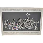 """Jean Dubuffet """"Sarah Scaife Gallery"""" Opening Poster c.1974"""