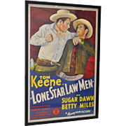 "Vintage ""Lone Star Law Men"" Movie Poster c.1941"