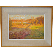 "R.S. Longley ""Autumn Fields"" Original Oil on Panel"